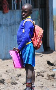 Student at Remba Primary School, Kenya